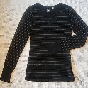 Tops - Striped black long sleeve
